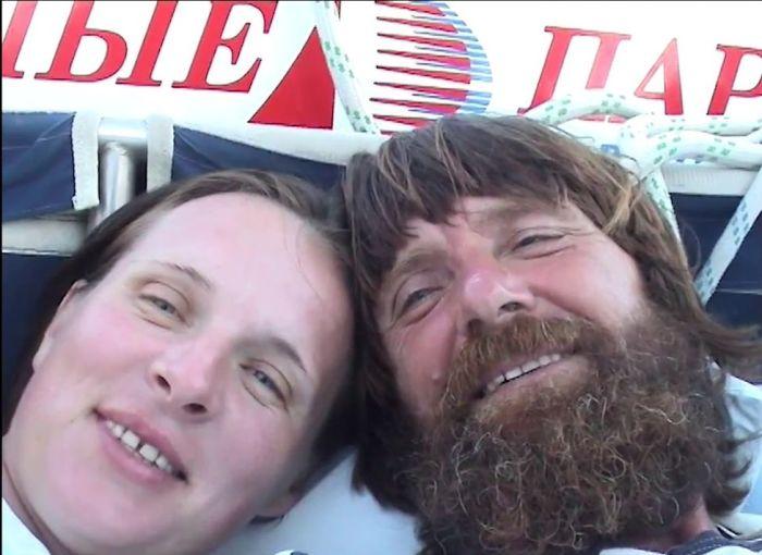 Фёдор и Ирина Конюховы. / Фото: www.ytimg.com