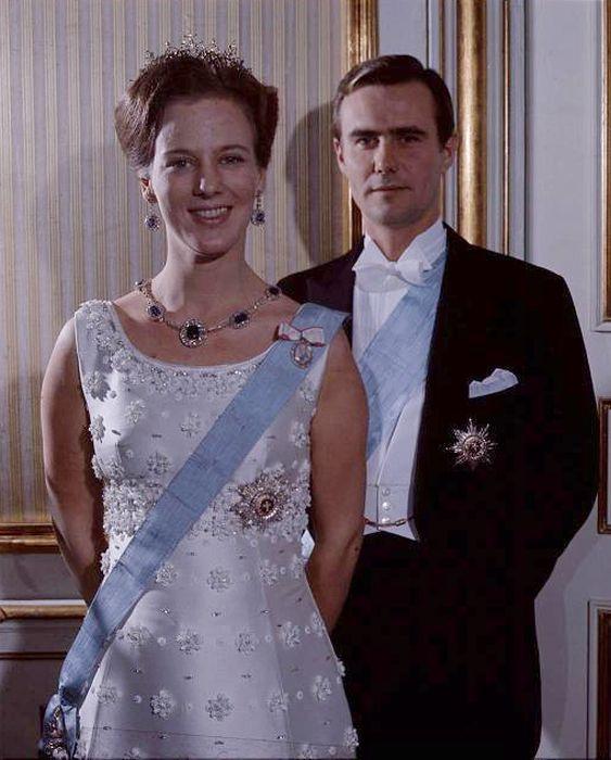 Принцесса Маргарете и принц Хенрик в молодости. / Фото: www.gallery.ru