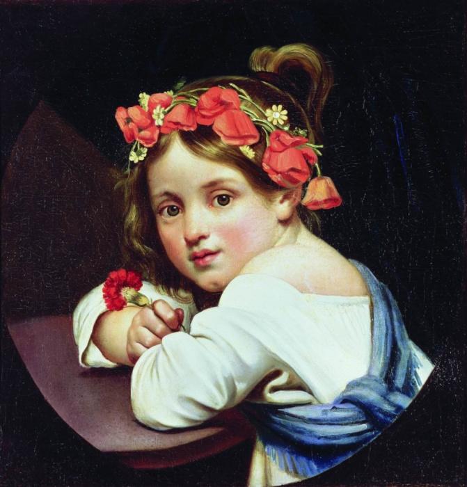 «Девочка в маковом венке». / Фото: www.artchive.ru