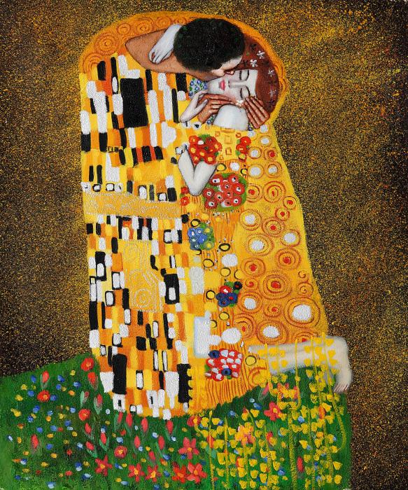 """""""Поцелуй"""", художник Густав Климт, 1907—1908. / Фото: www.wikipedia.org"""