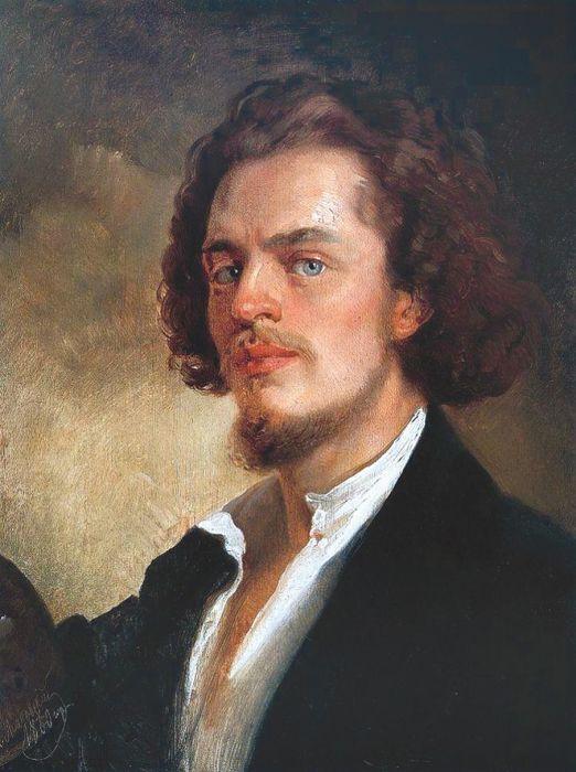 Константин Маковский, «Автопортрет», 1860. / Фото: www.mosjour.ru