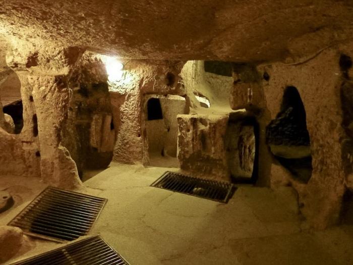 Подземный город имеет множество помещений и собственную вентиляционную систему. / Фото: www.helionews.ru