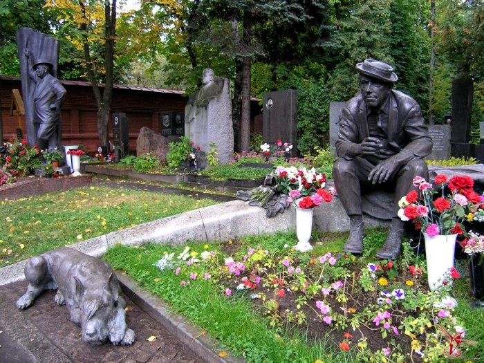 Могила Юрия Никулина на Новодевичьем кладбище. / Фото: www.vestnikk.ru