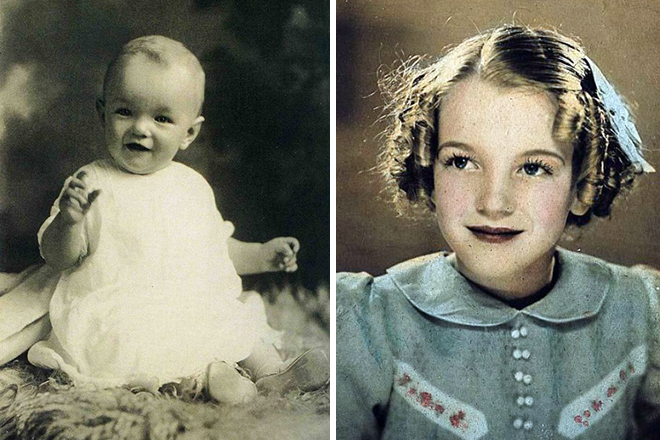 Мэрилин Монро в детстве. / Фото: www.prikolno.cc