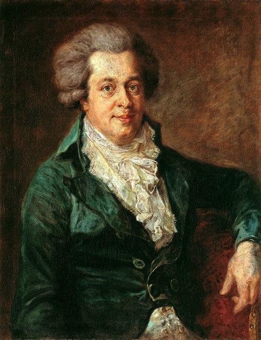 Вероятно, последний прижизненный портрет Моцарта кисти Иоганна Георга Ðдлингера, 1790. / Фото: www.tunnel.ru