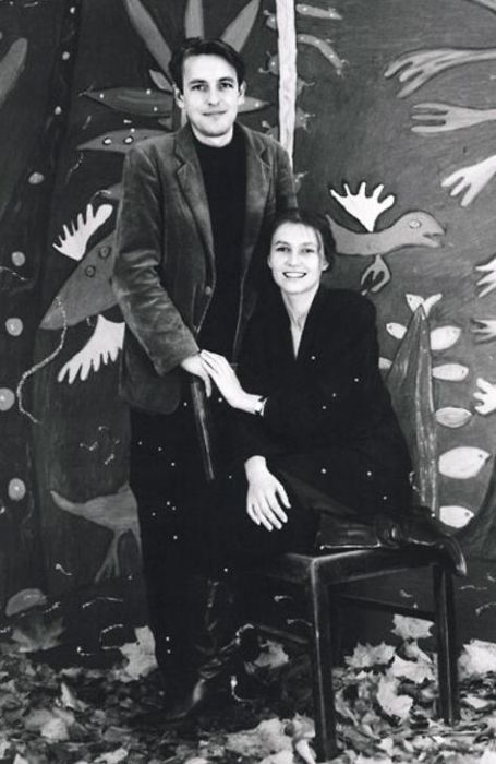 Арунас с Ингеборгой, 1991 г. / Фото: Modern Art Centre, www.7days.ru