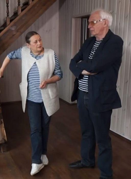 Владимир Носик с женой на съемках передачи «Идеальный ремонт». / Фото: www.1tv.ru