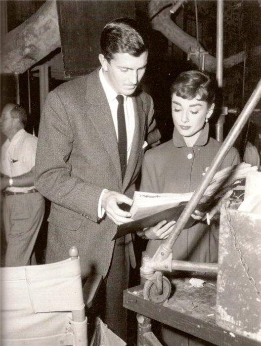 Одри Хепбёрн и Юбер де Живанши. / Фото: www.wp.com