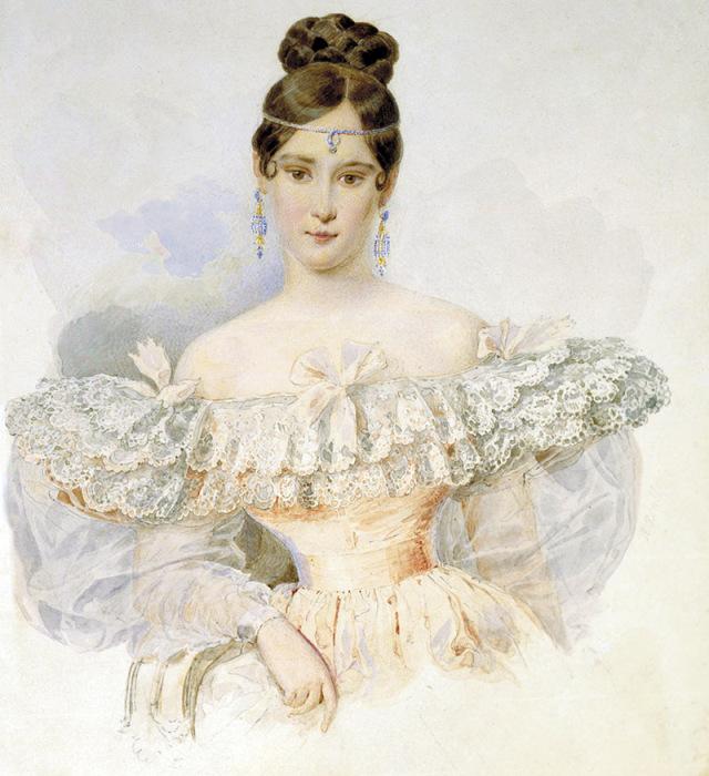 Наталья Гончарова. А. Брюллов, конец 1831 – начало 1832. / Фото: www.mylitta.ru