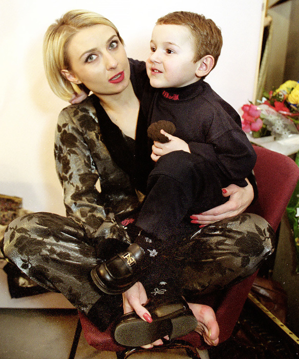Татьяна Овсиенко с сыном. / Фото: www.teleprogramma.pro