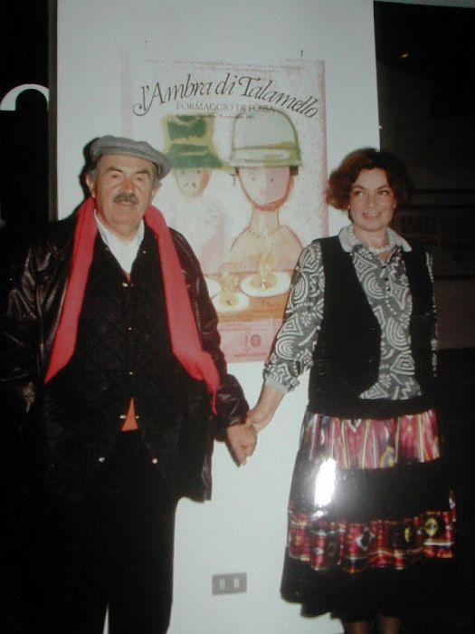 Тонино Гуэрра и его жена Элеонора Яблочкина. 1977 год. / Фото: www.livejournal.com