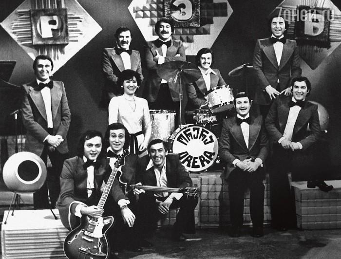 Нани Брегвадзе и Буба Кикабидзе в составе  ВИА «Орэра», конец 60-х. / Фото: www.playcast.ru