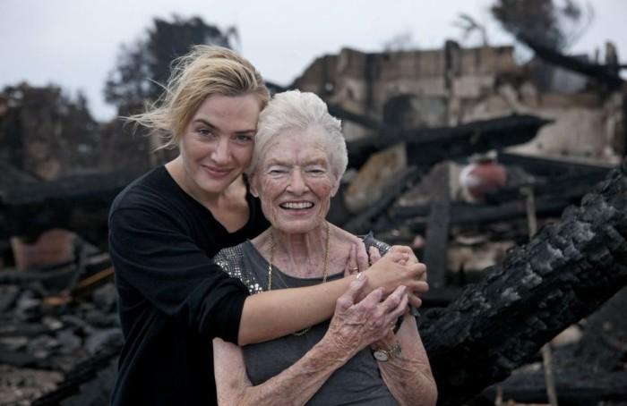 Кейт Уинслет и спасённая мама Ричарда Брэнсона. / Фото: www.londonru.com