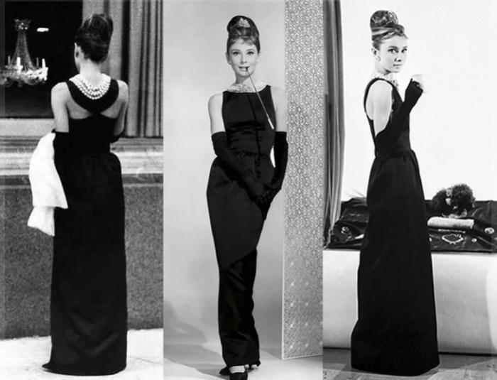 Легендарное чёрное платье, созданное модельером для съемок Одри Хепбёрн в фильме «Завтрак у Тиффани». / Фото: www.yandex.net