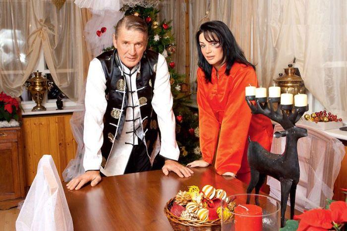 Александр Абдулов и Юлия Мешина. / Фото: www.7days.ru