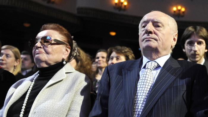 Марк Захаров и Нина Лапшинова. / Фото:  www.ntv.ru