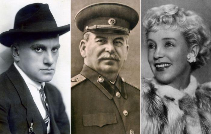 Владимир Маяковский, Иосиф Сталин, Марина Ладынина.