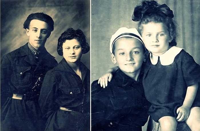 Слева родители Семена Фарады, справа он сам с сестрой Женей. / Фото: www.nnm.me