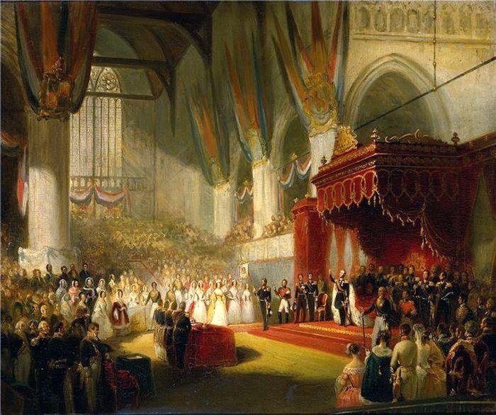 Nicolaas Pieneman/ Инаугурация короля Виллема II в Ниуве-Керк, Амстердам, 28 ноября 1840. / Фото: www.similart.fr