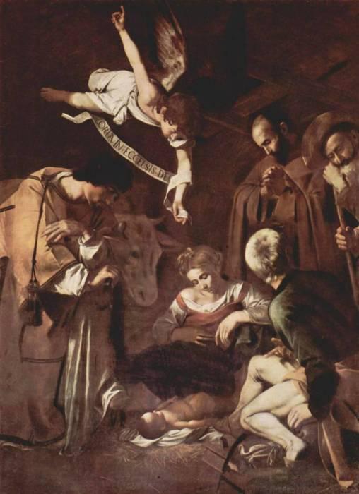 Картина «Рождество со святым Франциском и святым Лаврентием», 1600 г. Микеланджело Меризи да Караваджо.  / Фото: www.epimg.net