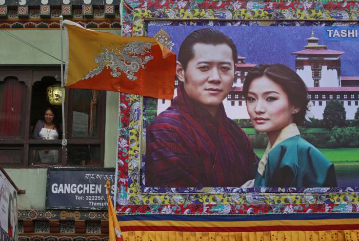 По всей стране висели портреты короля с его избранницей. / Фото: www.fototelegraf.ru