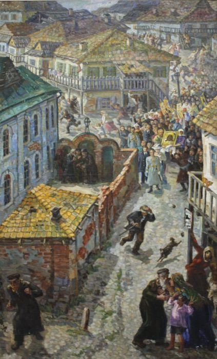 «Погром», Василий Сильверстов, 1934. / Фото: www.livejournal.com