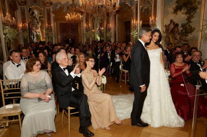Свадьба Джорджа Клуни и Амаль Аламуддин. / Фото: www.tolusworld.com