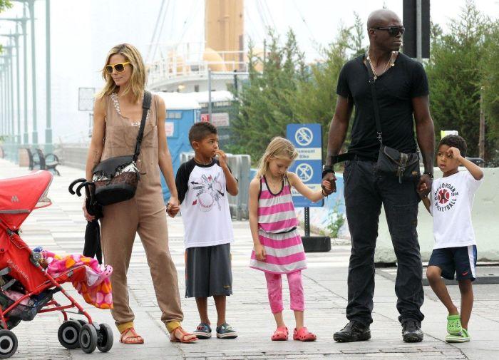 Хайди Клум и Сил с детьми. / Фото: www.tsn.ua