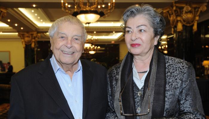 Юрий Любимов и Каталин Кунц. / Фото: www.rtr-vesti.ru