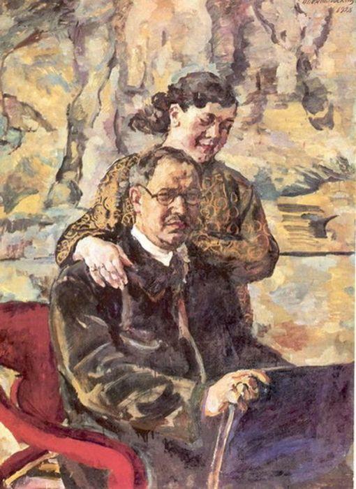 «Автопортрет с женой», 1928. / Фото: www.regnum.ru