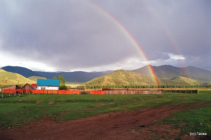 Радуга над селом Боочи. / Фото: www.wikimapia.org