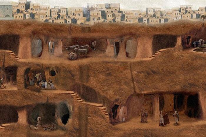 Деринкую - целый подземный комплекс, где когда-то жили люди. / Фото: www.yablor.ru