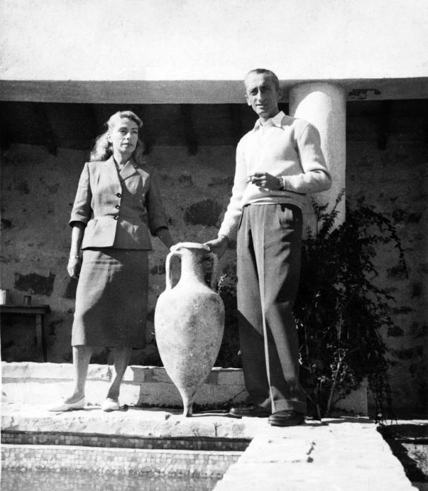 Жак-Ив и Симона Кусто, 1952 год. / Фото: www.i.f1g.fr