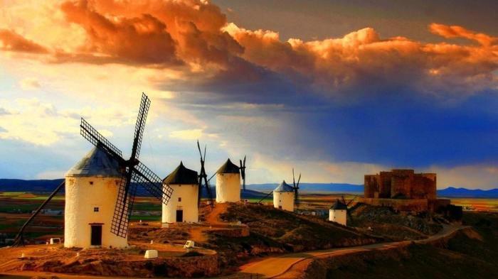 Ветряные мельницы. / Фото: www.hdwallsbox.com