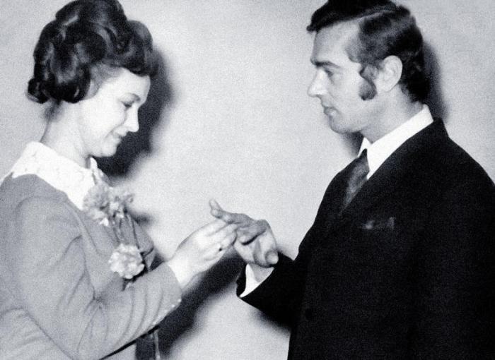 Татьяна Пилецкая и Борис Агешин, 2 февраля 1973 года. / Фото: www.7days.ru