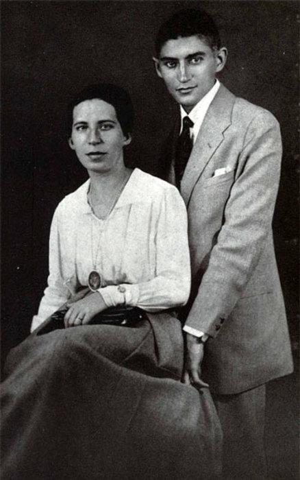Франц Кафка и Фелиция Бауэр, 1917. / Фото: www.persons-info.com