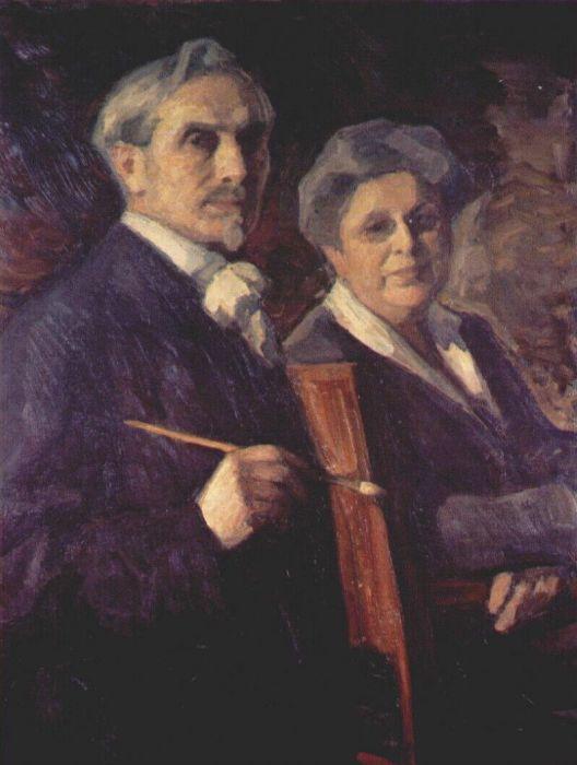 Леонид Пастернак, «Портрет художника и его жены». / Фото: www.artchive.ru