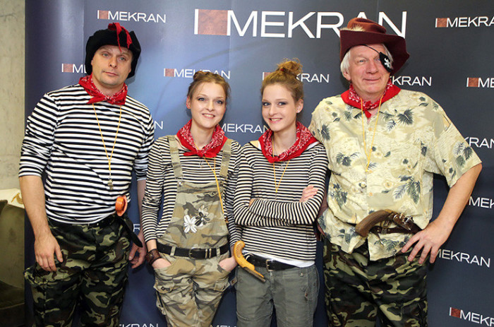Владимир Носик с дочерьми и племянником. / Фото: www.milayaya.ru