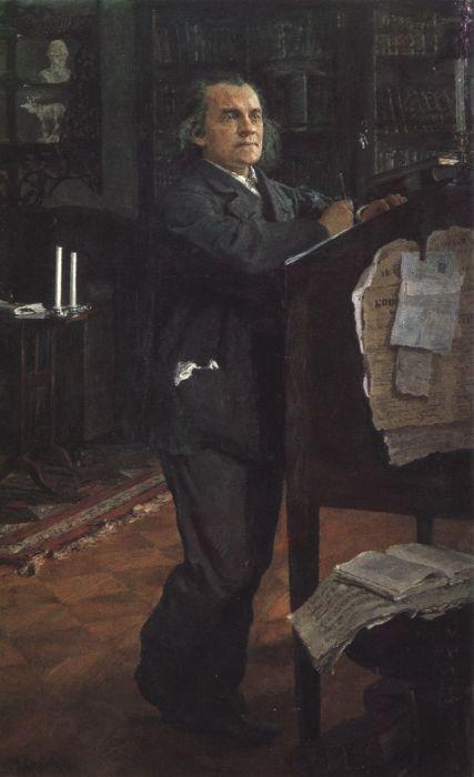 Александр Серов. Портрет написан его сыном Валентином Серовым. / Фото: www.wikipedia.org