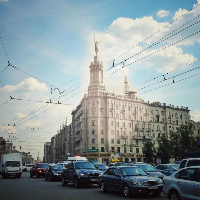 Так мог бы выглядеть дом 17 по Тверской сегодня . / Фото: www.moscow.ckonovalov.ru