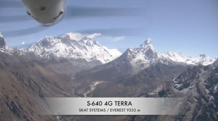 SKAT 640 4G TERRA над Эверестом. / Фото: www.vse42.ru