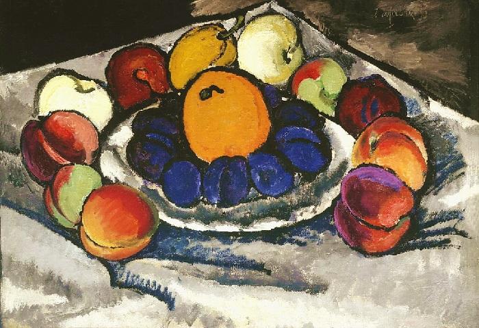 «Натюрморт с фруктами». 1910г.  И. Машков.