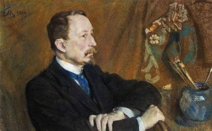 Аполлинарий Михайлович Васнецов. Портрет работы С.В. Малютина. 1914 год.