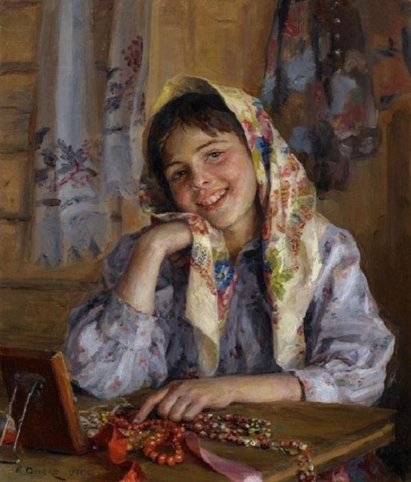 «Новое ожерелье». Автор: Федот Сычков.