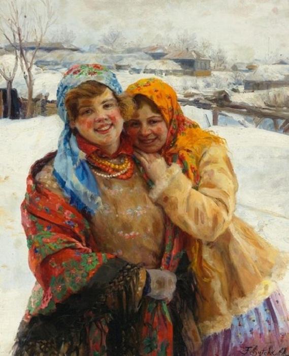 «Русские девушки». Автор: Федот Сычков.