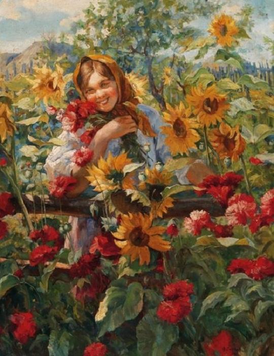 Мордвинская девушка». Автор: Федот Сычков.