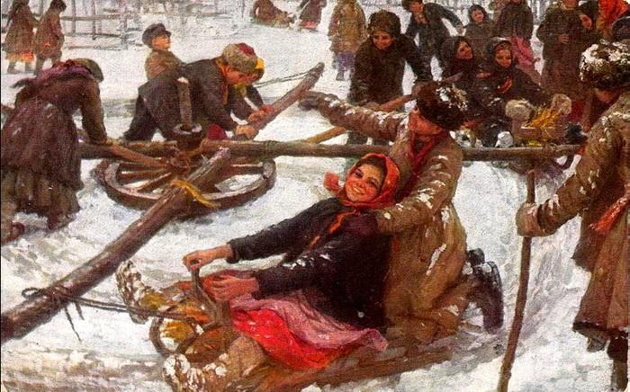 «Деревенская карусель». Автор: Федот Сычков.