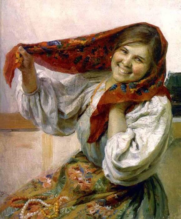 «Русская девушка. Автор: Федот Сычков.