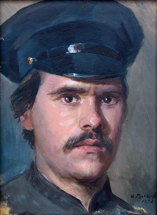 Автопортрет.(1893). Федот Сычков.