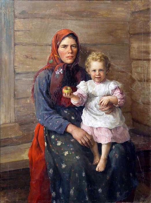 Няня. Сестра художника. Автор: Федот Сычков.
